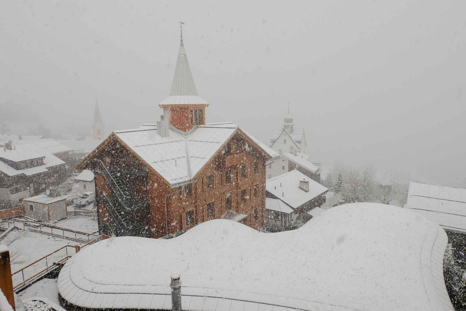 Schneegestöber in Morissen