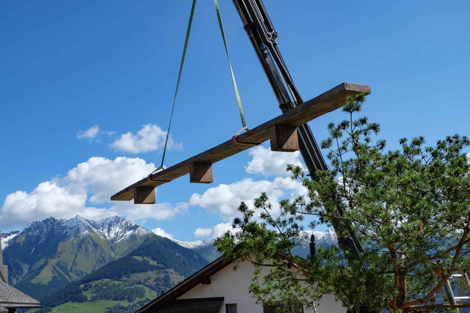 Bergwelt und Eichebank